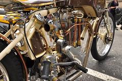 The Land Of The Brass Monkey (HiJinKs Media...) Tags: norton motorbike classic brass engine details shiny vintage motorcycle motorsport nikon pipes