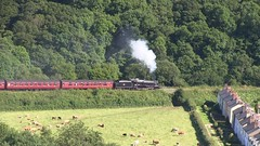 LMS Black Five No.44806 southbound at Esk Valley on 12th July 2017 [NYMR] (soberhill) Tags: rail railway train steam 2017 northyorkshiremoorsrailway nymr lms blackfive black5 44806 eskvalley grosmont