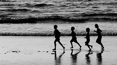 Burmese days (DepictingPhotos) Tags: asia beaches burma children ngapali reflections silhouettes