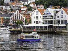 Bergen harbour (Luc V. de Zeeuw) Tags: bergen boat building lucvdezeeuw ship trees water waterfront hordaland norway