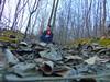 Myself (Fainmail67) Tags: me portrait nature love leaves green woods forest self music headphones coat hoodie sittin sit
