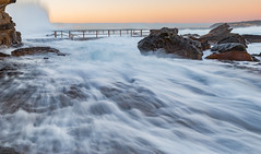 High tide and big swell (nixpix651) Tags: rockpool northcurlcurl newsouthwales australia waves ocean beach sunrise