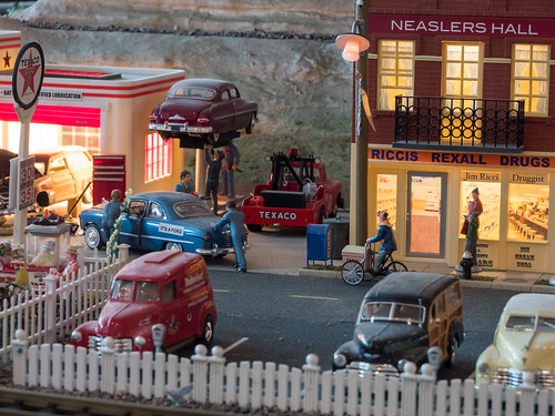 Union Station Model Train Street Scene