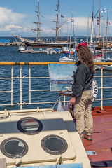 Tallinn Maritime Days 2017 On Seaplane Harbour (Estonian Maritime Museum) (AudioClassic) Tags: artist painting sea vessel ship yacht ocean boat nautical sailboat transportation yachting tall wind cruise navigation transport rigging wooden marine travel regatta maritime sport sailing sky sail historic mast rope vintage blue old detail equipment wood navy deck frigate tackle water antique adventure pirate freedom boating race romantic crew speed team line waves tallship construction ancient ladder timber outdoor explorer luxury windy voyage shipping vehicle sailingship anchor sailor captain tide closeup man people
