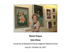 """Renee Fuqua Solo Artist July to October 2017 UMDCRMC • <a style=""""font-size:0.8em;"""" href=""""https://www.flickr.com/photos/124378531@N04/36137964306/"""" target=""""_blank"""">View on Flickr</a>"""