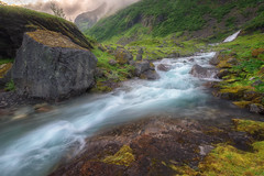 Geiranger water stream (davidshred) Tags: nikon d7200 norway geiranger landscape sunset water strem waterfall rapids