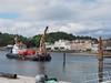 60 of 365 Oban pontoons are started (Ali ~ McC) Tags: oban pontoons moorings inprogress workboat piles scotland scottishsummer