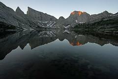 Sunrise at Deep Lake (kyleddsn) Tags: windriverrangewyoming summer hiking backpacking deeplake