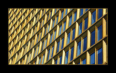 Yellow Grid (richieb56) Tags: deutschland germany city urban stadt fassade facade building gebäude fenster window grafisch graphic perspective perspektive berlin diagonal pattern muster gelb