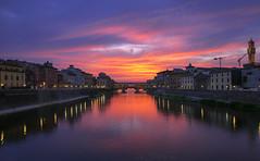 Florence - Ponte Vecchio (jack.mihlenstedt) Tags: florence italy tuscany nikond750 tamron2470mm sunset arno river ponte vecchio bridge blue hour italia
