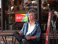 Just Eat (knightbefore_99) Tags: car free day commercialdrive thedrive city candid just eat italian vancouver eastvan cool awesome 2017 july art
