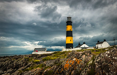 St Johns Point Lighthouse. (RonnieLMills) Tags: st johns point lighthouse rossglass killough county down northern ireland rocks clouds mourne mountains