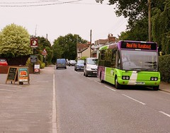 Start of the Pub Crawl (Chris Baines) Tags: ipswich buses optare solo yn04 lwk stutton kings head pub rel ale runabout