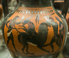 IMG_1848 (jaglazier) Tags: 2017 540bc510bc 6thcenturybc 7417 amphora animals archaeologicalmuseums archaic britishmuseum ceramics chimera clay copyright2017jamesaglazier crafts drawing england etruscan gravegoods grecoroman greek herakles italy july legends lions london mammals museums myths pottery religion rituals swingpainter urbanism vulci archaeology art barefoot blackfigure burialgoods cities clubs earthenware funerary gods imported imports mythical unglazed weapons westminster