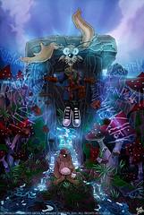 Whiffle is Powerful (MightyZandor) Tags: illustration cartoon rabbits mushrooms magic fantasy sword sorcery stream webcomic comic adventure