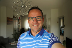 26/52 Me @ 53 (Meteorry) Tags: europe nederland netherlands holland paysbas noordholland amsterdam home maison selfportrait me moi selfie autoportrait me53 52weeks 52semaines anniversaire birthday age fiftythree cinquantetrois male homme guy man nike polo shirt glasses face visage june 2017 meteorry