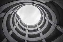 Eye to the Sky (michel1276) Tags: sonya7ii monochrome blackwhite schwarzweis architektur architecture gebäude building parkhaus round rund