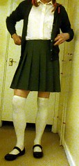 Schoolgirl outfit 1 (SissyKerry) Tags: sissy schoolgirl socks cd crossdress