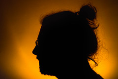 (25/365) Some days, you've got nothing (thatmattrogers1) Tags: silhouette messyhair lastminute