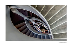 The spiral staircase (AnnaPileaFotografie) Tags: staircase architecture city stairs hat man maastricht netherlands abstract spiral spiralstaircases symmetry composition modern design construction step futuristic style lines steel art spiralstaircase stair 60d canoneos60d canon