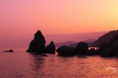 Sunset (jlmm_morales) Tags: atardecer sunset naranja orange hora azul blue hour paisaje landscape playa beach contraluz backlighting maro nerja malaga andalucia españa spain nkon d5100