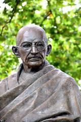 Gandhi in Westminster (Peter Denton) Tags: westminster london statue sculpture mahatmagandhi politics india philipjackson sculptor ©peterdenton england uk europe europa eu
