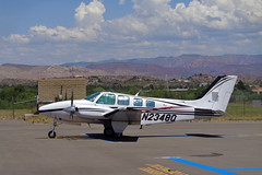 1998 Raytheon (Beech) Baron (twm1340) Tags: 1998 beech beechcraft raytheon 58 model58 baron twin engine light airplane aircraft p52 cottonwood airport az arizona cloudy day thunderstorm verdevalley n2348q th1848