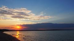 Sunset over the Black sea (borisvasilev) Tags: sea sunset beach bulgaria borissnima travel travelolympus olympus digitalphotography sun sky clouds lamer mer