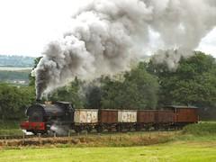 'Sir Gomer' blasts up Foxfield Bank (WelshHatter2000) Tags: foxfieldrailway summersteamgala 50thanniversary steam locomotive industrial foxfieldbank mountainash ncb peckett sirgomer 060st