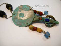 Polymer Clay Pendant Ancient Bronze Mirror by LynzCraftz (2) (LynzCraftz) Tags: polymerclay pendant jewelry necklace oneofakind handmade art resin