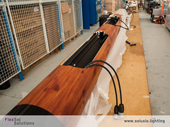 Battery-assembly-of-Soluxio-solar-light-post-with-wooden-finish-for-Tilburg (FlexSol Solutions) Tags: solar streetlight light street pole assembly factory manufacture post column wood aluminium battery soluxio flexsol solutions