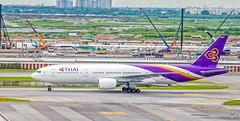 Thai Airways : HS-TJH Boeing 777-200 (Delta_33) Tags: aircraft airplane airliner thaiairways thaiairwaysinternational tg boeing b777 b777200 hstjh staralliance bkk vtbs suvarnabhumiairport suvarnabhumiinternationalairport