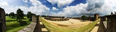 Amphi_panorama4 (studio59.photography) Tags: 2017 duitsland germany romeinen xanten amphitheater sony green trees clouds blue sky fisheye