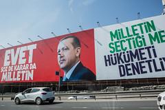 presidential referendum in turkey (muratsengul44) Tags: erdogan banner turkey yes no evet referendum recep tayyip