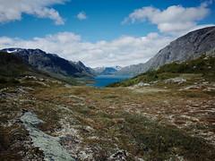 moutain lake (Stefan_Brinkmann) Tags: mountain landscape nature travel noperson sky outdoors rock water valley summer hike scenic mountainpeak grass hill