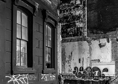 Block Decay (D. Coleman Photography) Tags: block decay 1300 south broad street philly philadelphia point breeze neighborhood abandoned graffiti torn demolished fire urban cities city cityscape streets stone masonry buildings