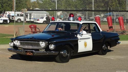 Tulare Ca Police 1962 Dodge Dart 330 Restored Replica 22 A