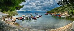 Γεροπλίνα Geroplina panorama (Dimitil) Tags: geroplina cove port boats pelion sea seascape clouds dramaticsky reflections panorama thessaly magnesia greece hellas