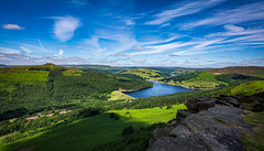 the best view in the peak district ? (Phil-Gregory) Tags: nikon d7200 tokina 1120mm 1120mmf28 1120mmproatx 1120 wideangle ultrawide wide ladybowerreservoir water reservoir ladybower scenicsnotjustlandscapes landscapes blue dam green peakdistrict clouds sky field trees winnhill crookhill bamfordedge