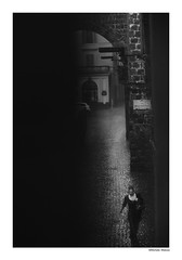 (michela.midossi) Tags: italy italia blackandwhite biancoenero rain pioggia summerrain woman donna street strada viterbo