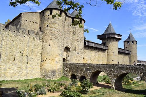 Carcassonne. Entrée du château.