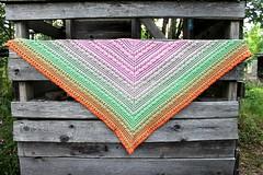 2017.07.31. lost in time shawl 3213m (villanne123) Tags: 2017 crochet shawl wrap cotton souffleyarn lostintimeshawl villanne virkattua virkattu virkattuhuivi