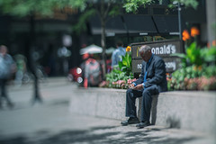 contemplating (Jovan Jimenez) Tags: contemplating people old man black sitting bokeh nikon series e seriese eseries 50mm pancake lens manual f18 sony ilce 6500 a6500 alpha street photography tilt shift tiltshift downtown fmount kipon adapter vintage focus optical mirrorless dof