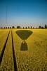 Schatten (matthias_oberlausitz) Tags: ballon heisluftballon landung weizen weizenfeld feld leitspur fahrgasse sächsische schweiz elbsandsteingebirge