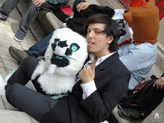 DSC01872 (Thanriu) Tags: furry leon lion fursuit angel dragon canid canino fox zorro wolf lobo wicker wickerbeast bunny conejo traje suit friends amigos junta meet sergal head furhead dibujo drawing