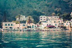 Summer Time (A & A McKee) Tags: beach blue water sea loutro crete greece palms houses beautiful landscape nikon dslr 1835mm 18 d500 holiday summer