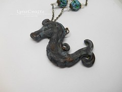 Polymer Clay Pendant Acient Sea Horse by LynzCraftz (LynzCraftz) Tags: polymerclay pendant jewelry necklace oneofakind handmade art resin
