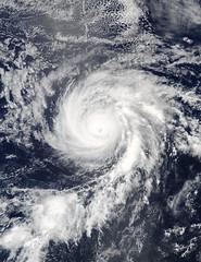 NASA Keeps Tracking a Weaker Hurricane Fernanda (NASA's Marshall Space Flight Center) Tags: nasa marshall space flight center msfc goddard gsfc earth terra modis moderate resolution imaging spectroradiometer hurricane