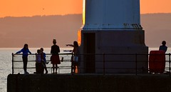 Summer Nights (Edinburgh Photography) Tags: summer people silhouettes urban landscape documentary photojournalism newhaven harbour nikon d7000