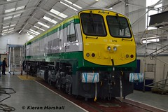 218 at Inchicore, 19/7/17 (hurricanemk1c) Tags: railways railway train trains irish rail irishrail iarnród éireann iarnródéireann dublin inchicore 2017 generalmotors gm emd 201 218 paintshop